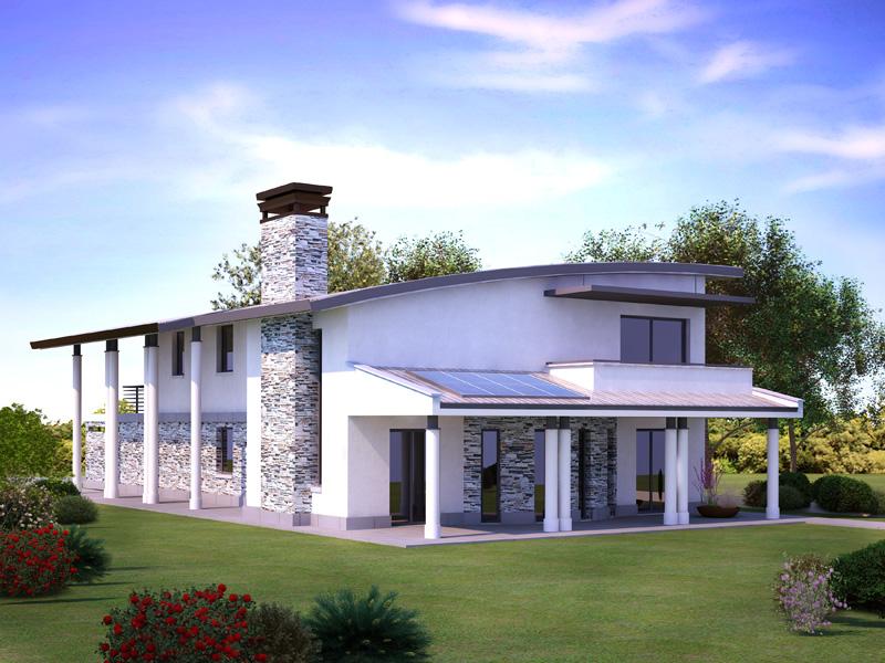Esterno casa moderna beautiful modern acase ecologiche for Casa moderna esterno